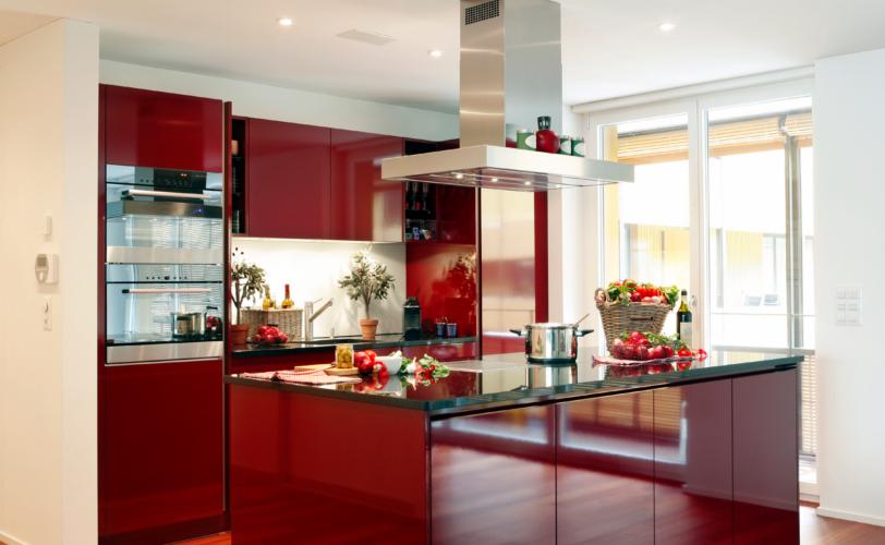 Küche mit Kochinsel von Fischer AG