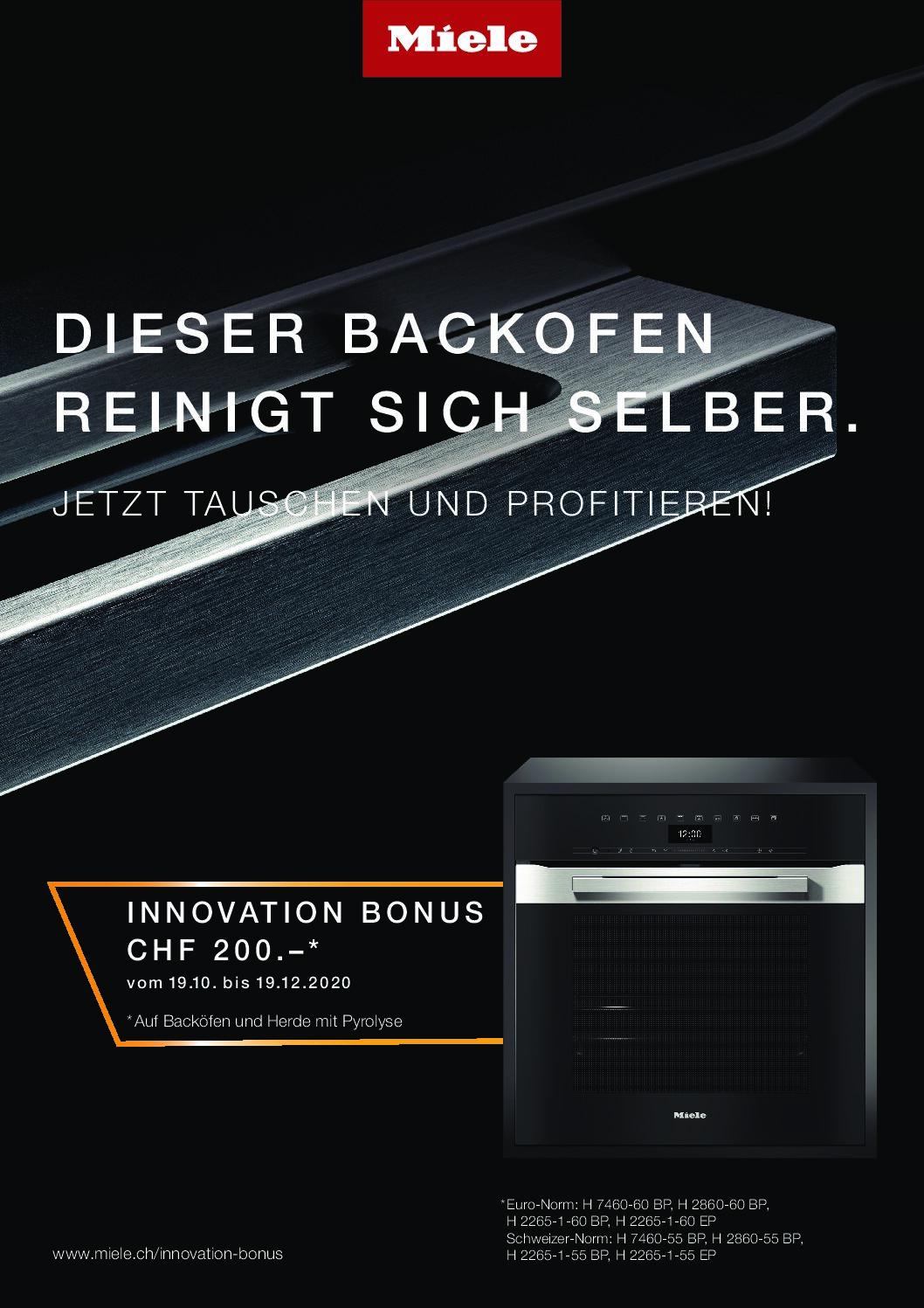 Miele Aktion Innovation Bonus Herde_Backöfen